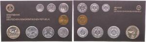 Rda Off.kursmünzensatz, 1 Peniques Hasta 5 Marco 1984 Plástico Duro St