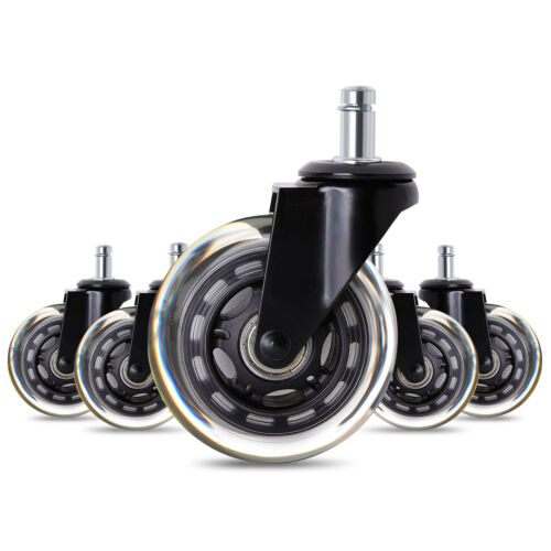 Set of 5 Office 2.5/'/' Chair Caster Wheels Heavy Duty /& Safe for All Floors