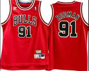 48a77ac4a8d shopping image is loading dennis rodman 91 chicago bulls jersey throwback  vintage a0dcc 17cbc