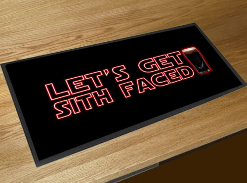 Let/'s get Sith Faced Sith beer quote bar runner