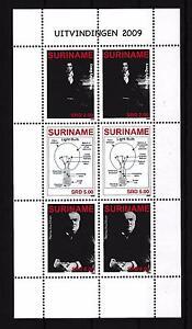 [SUV1603] Surinam 2009 Inventors Edison Davy Light Bulb Miniature Sheet tab MNH
