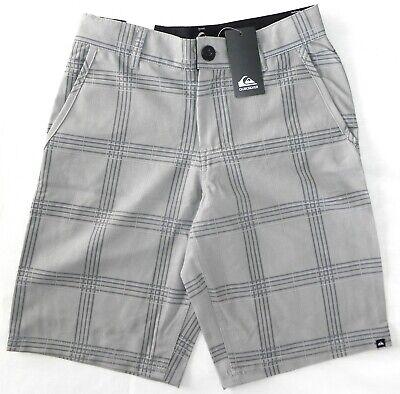 Quiksilver Boys Black Plaid Quick Dry Walking Shorts Size 8 NEW!