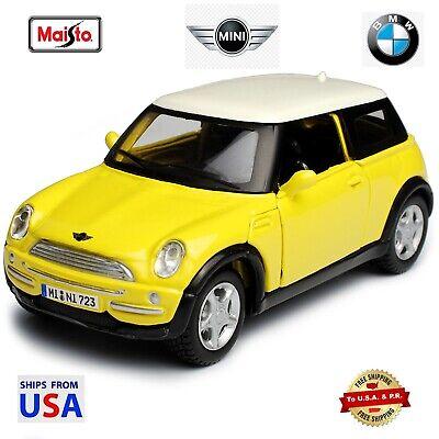 Maisto Power Races BMW 2002 Mini Cooper Yellow Diecast 1:36