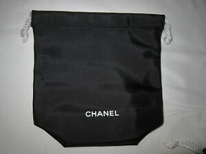 6d989557562d Image is loading CHANEL-Skincare-Black-drawstring-Cosmetics-Pouch- Accessories-Bag-