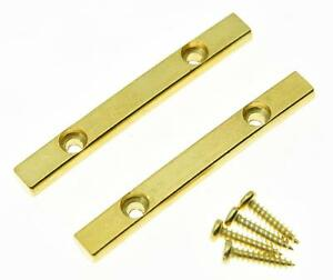 2x gold electric guitar string retainer bar for floyd rose guitar ebay. Black Bedroom Furniture Sets. Home Design Ideas