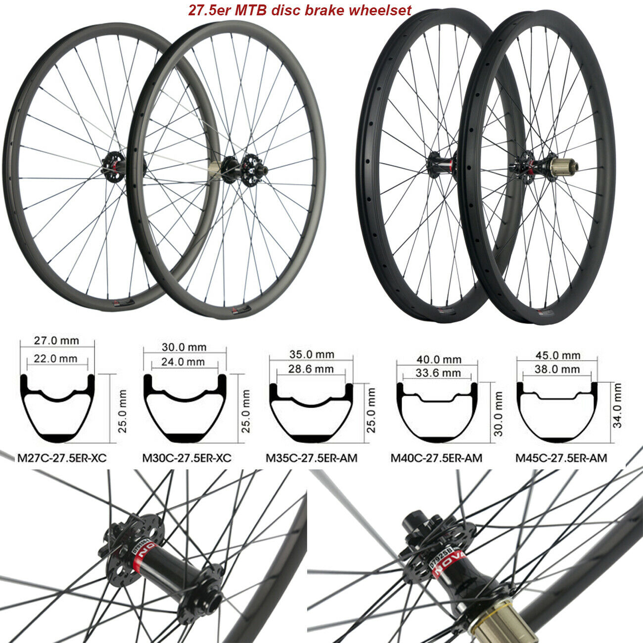 29 Inch Carbon 35mm Width Mtb Carbon Wheels Center Lock Straight Pulled Hub Qr For Sale Online Ebay