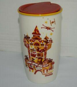 Disney Parks Starbucks ORNAMENT HOLLYWOOD STUDIOS Ceramic Travel Tumbler NEW