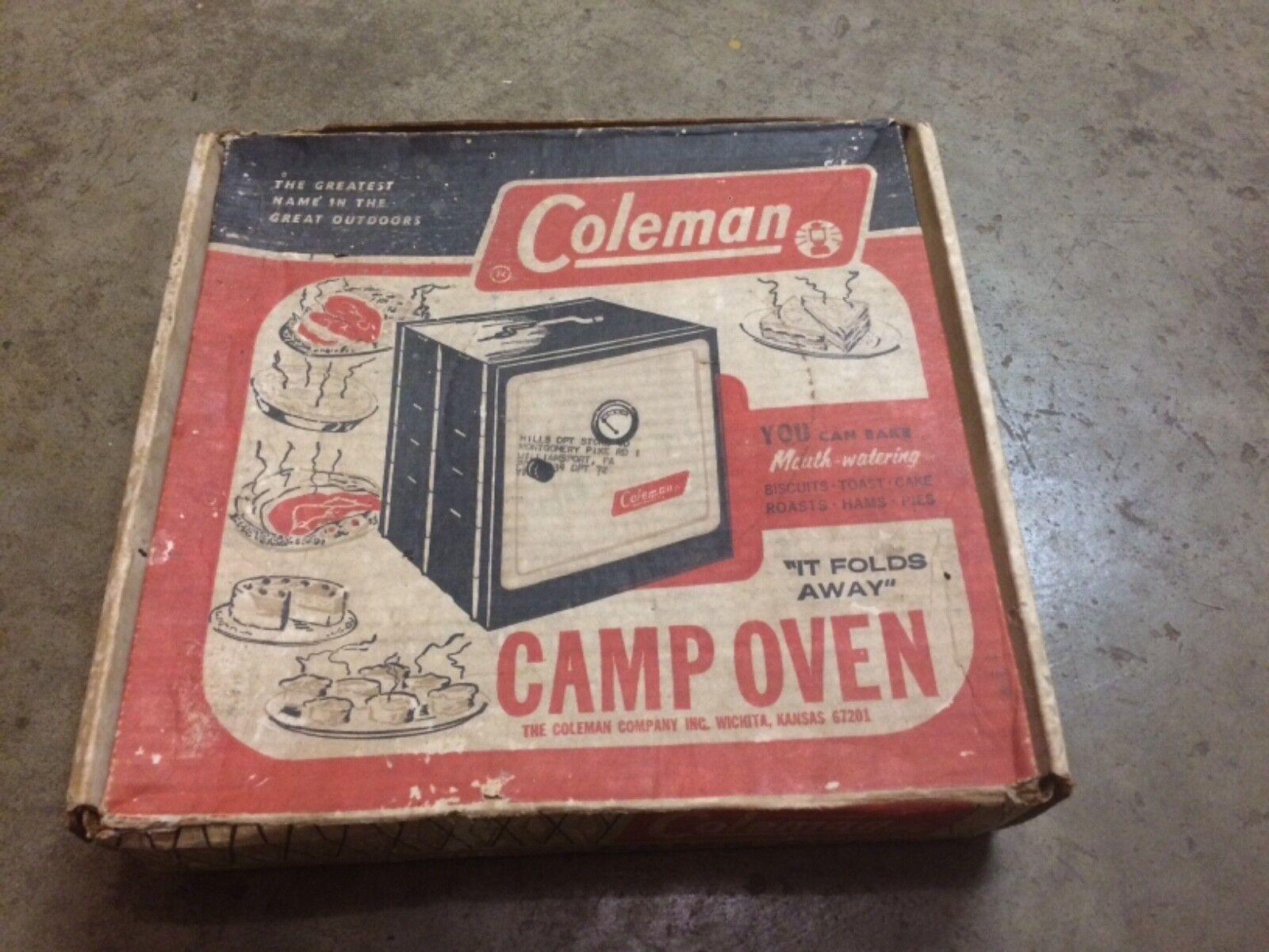 Vintage Coleman Folding Camp Oven Model No  5010A700 Original Box Clean  factory outlet store