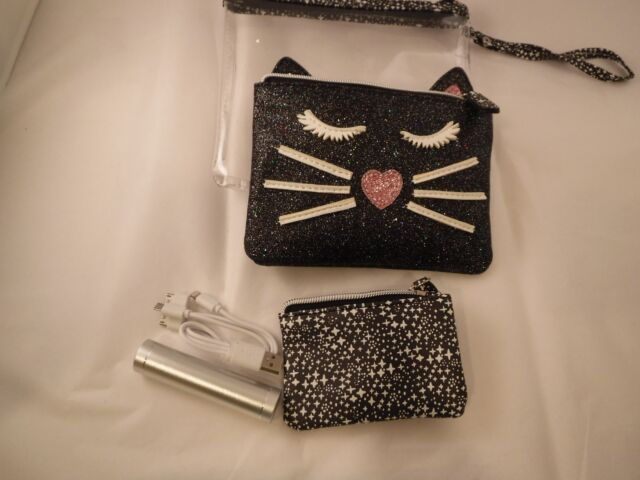 a2dbf81326 Under One Sky Cat Charger Clutch Trio Set. Clutch Zipper Pouch Charger READ  NWT
