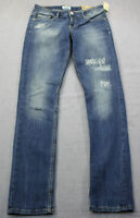 Aeropostale Bayla Womens Blue Distressed Studded Skinny Denim Jeans Sz 5 / 6
