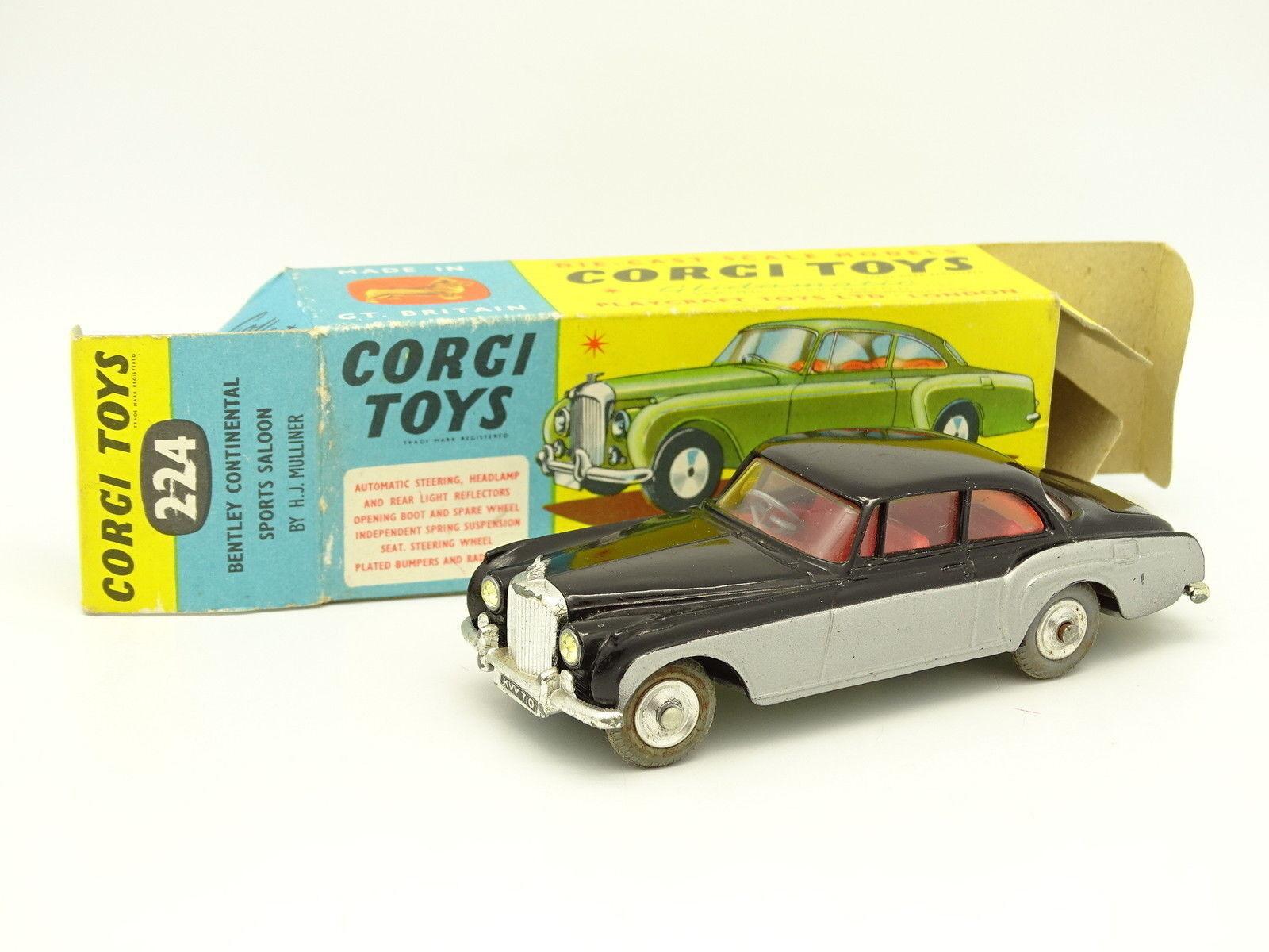 Corgi spielzeug sb 1   43 - bentley continental sport - salon schwarz und grau.