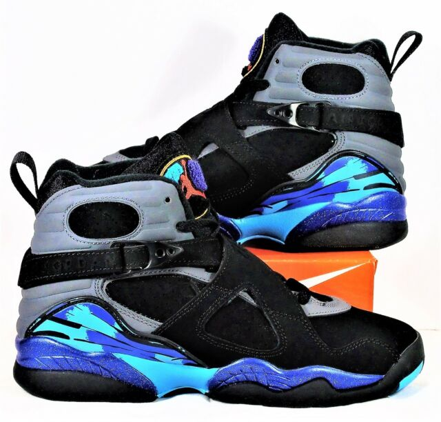 hot sale online 94663 cb028 Nike Air Jordan Retro 8 VIII BG GS Black   Concord   Aqua Sz 5Y NEW