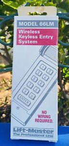 White Lift-Master Wireless Keyless Entry System Battery Powered Model 66LM