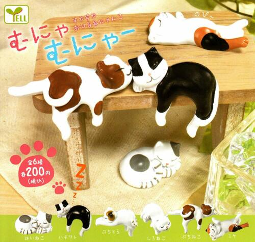 Ale figures All 6 of sleeping cat set Gashapon mascot toys Complete set