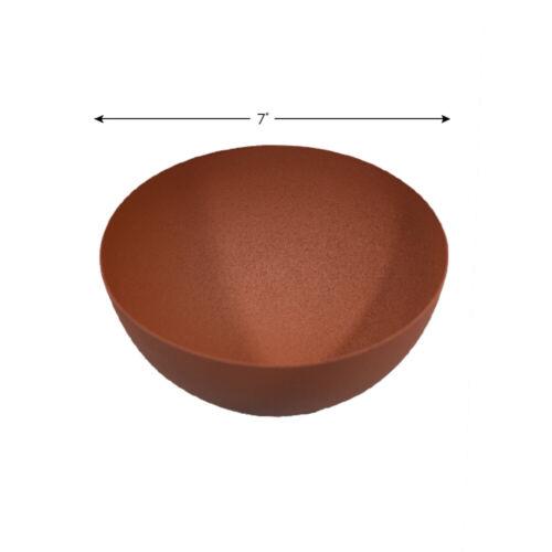 Details about  /Handmade 100/% Iron Round Modern Black /& Orange Rust Planters
