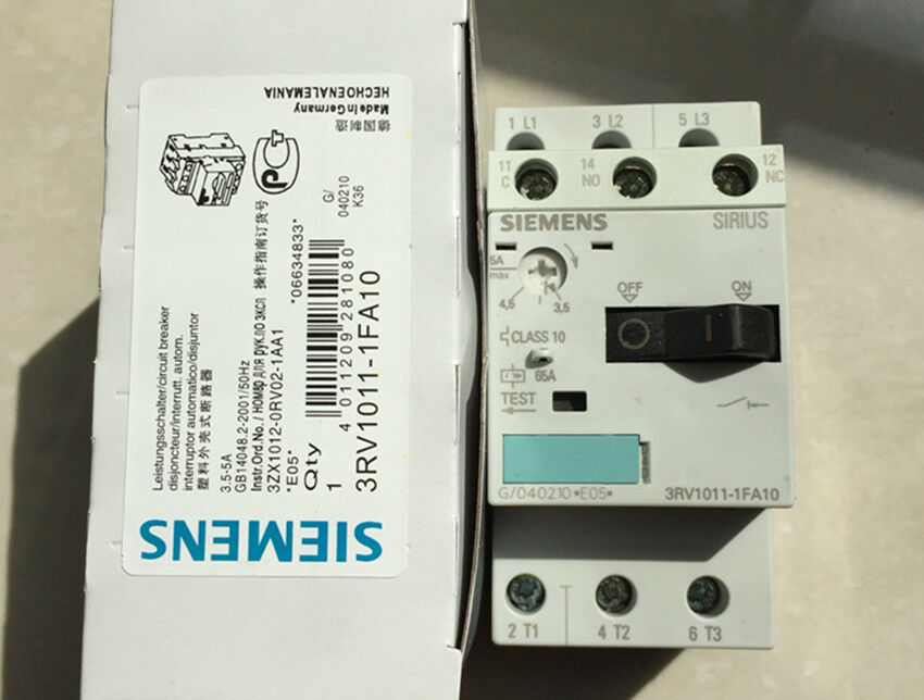 1PCS Siemens 3.5-5A Motor Circuit Breaker NEW 3RV1011-1FA10