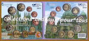 ESPAGNE Coffret BU 2012 - 10 monnaies - Worl Money Fair - 3000 exemplaires  !!