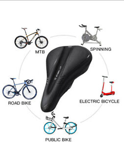 Cushioned Bike Seat Cover Comfort Soft Padded Gel Bicycle Cycle Saddle Cushion