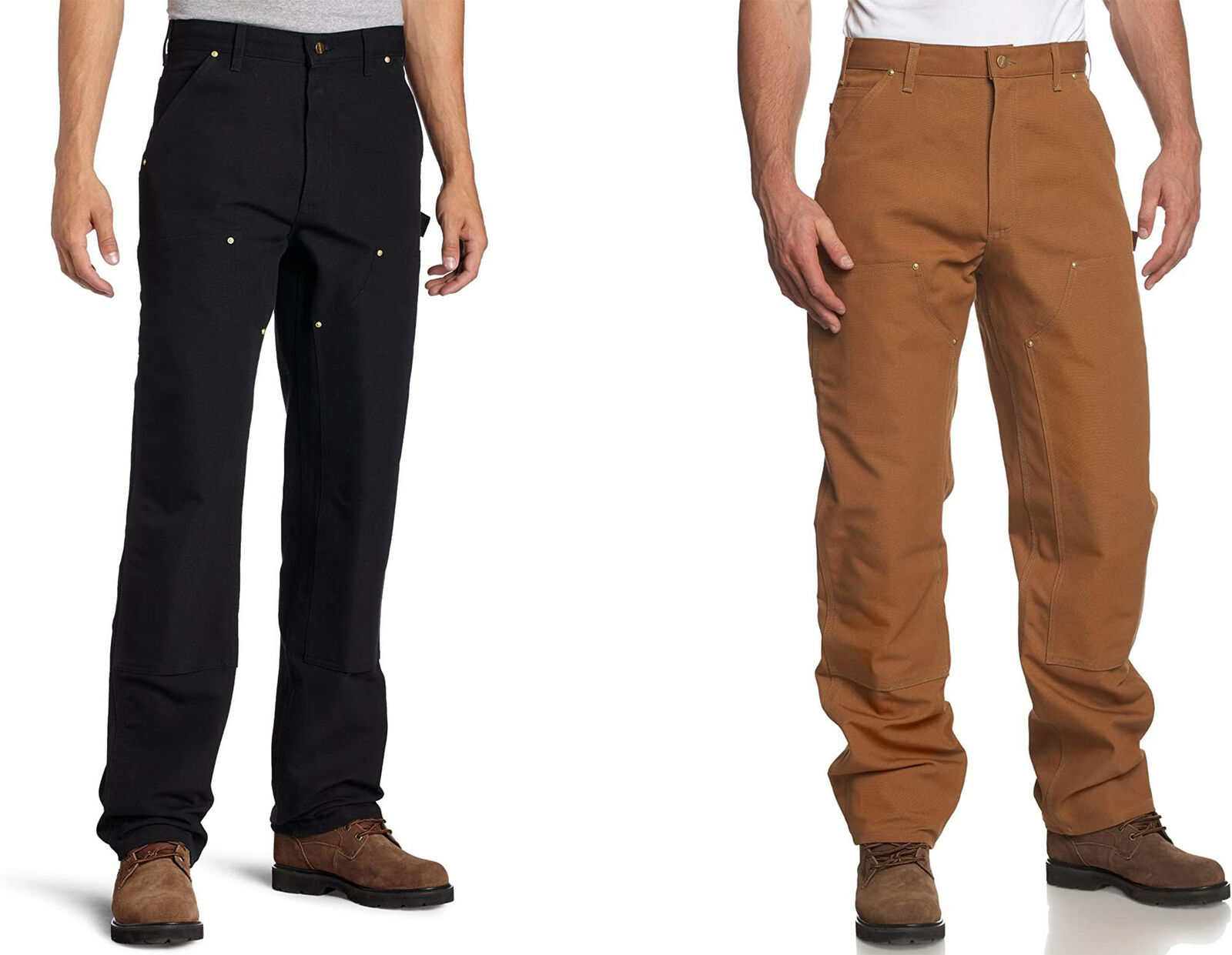 Carhartt Mens Firm Duck Double-Front Work Dungaree Pant B01