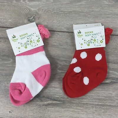 Official Disney Kids Infant Baby Pink Soft Knit Plain Tights 0-24 Months R373-4