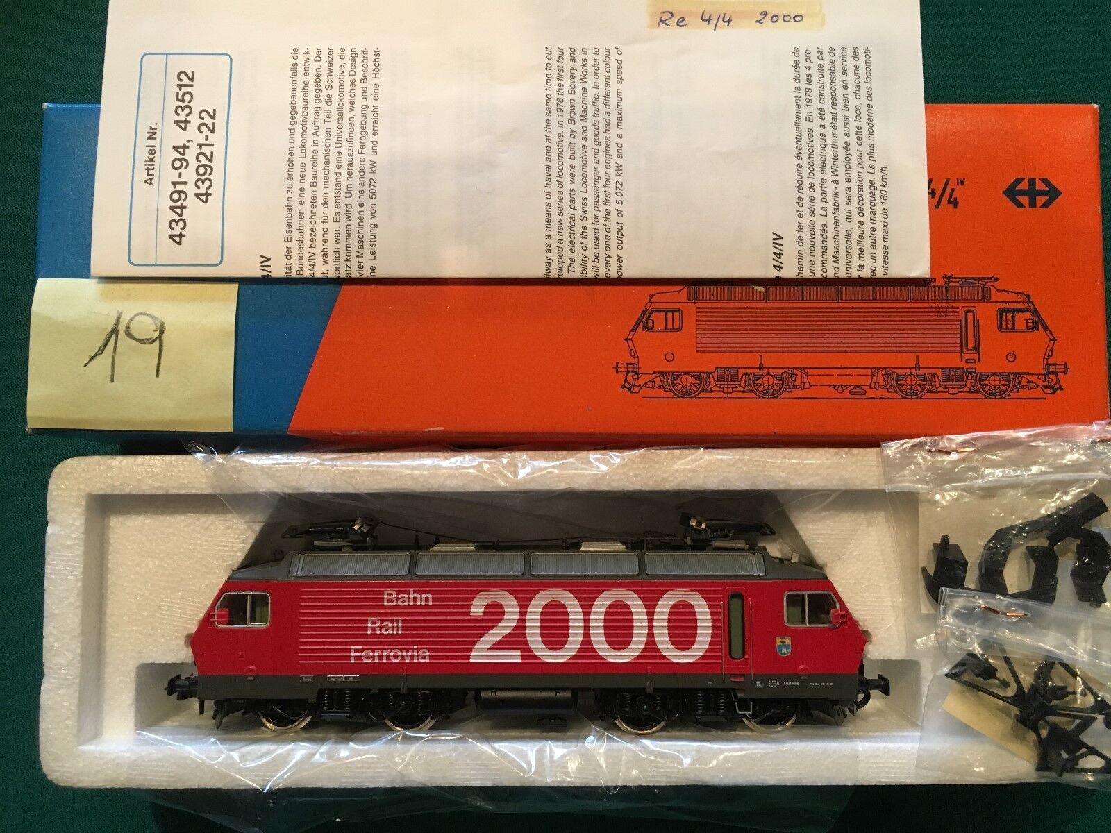 ROCO, HO, Nr.04178 B, Elektrolokomotive, Re4 4, 2000, Rot, SBB, OVP