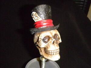 CUSTOM-LUCKY-13-TOP-HAT-skull-beer-Tap-handle-KEGERATOR-COLLECTIBLE