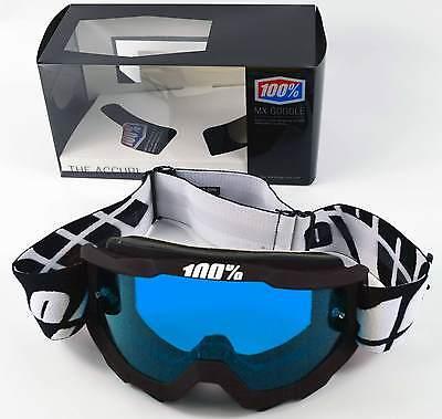 100/% MX Motocross ACCURI OTG Goggles Tornado w// Anti-Fog Clear Lens