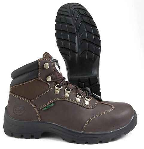 Geogia avvio G053 Columbus Steel Toe Toe Toe Hiker Style Marrone Leather Work avvio Medium 290d52