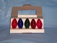 (5) Assorted Blinker Light Bulb Package Candelabra Base