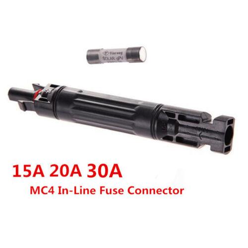 1000VDC MC4 Inline-Sicherung Anschluss männlich zu Fem PV Solar Sicherung Halter