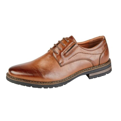 Men/'s Faux Leather Shoes HADLEY Chunky Formal Lace Up Shoe Size 7 8 9 10 11 12