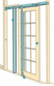 Superior Image Is Loading COBURN H36 Hideaway Double Pocket Door Kit For