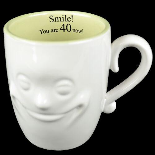 3D SMILING FACE MUG TEA COFFEE GIFT SET NOVELTY FINE CHINA CERAMIC MUGS NEW XMAS