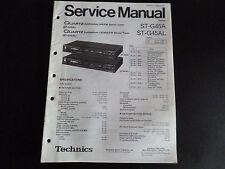 Original Service Manual Technics Tuner ST-G45A ST-G45AL