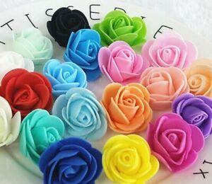 200-X-3CM-PLAIN-FOAM-ROSE-FLOWERS-BEST-PARTY-DECOR-WEDDING-ANNIVERSARY-ROSES