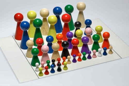 Aufstellungsplan Figurenset für Systembrett Familienbrett Set mit 48 Figuren u