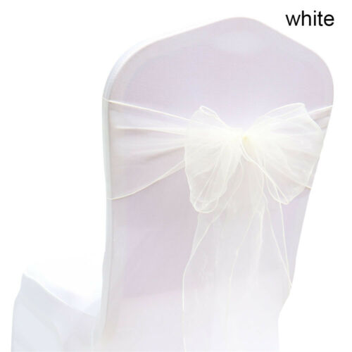 Banquet Event Decor Table runner Chair Cover Organza Sashes Silk Bow Sash