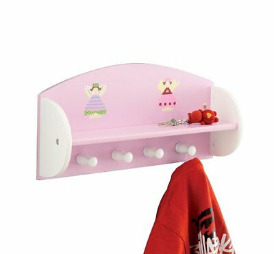"Zeller 13448 Appendiabiti per bambini ""principessa"" in MDF, 48x12x23,5 cm"