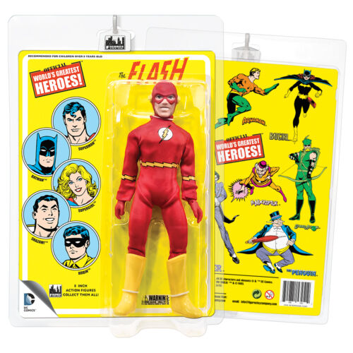 Official DC Comics The Flash 8 Inch Action Figure with Retro Cards
