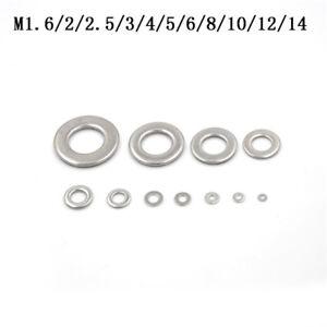 Hot-50X-304-Stainless-Steel-Flat-Machine-Washer-Plain-Washer-Gasket-M1-6-M-zhGVC