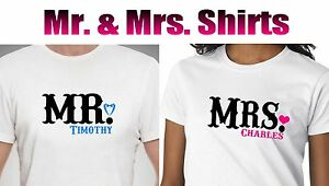 aeabe312d Personalized Mr and Mrs T SHIRT. COUPLE Mr and Mrs T SHIRTS Wedding ...