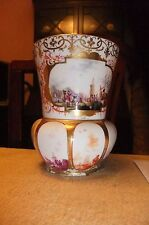 A SUPERB Meissen vase, hand painted with EXTREMELY FINELY harbour scenes.