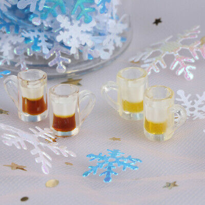 2Pcs Kitchen room food drink cup for doll diy miniature dollhouse coffee cup FF