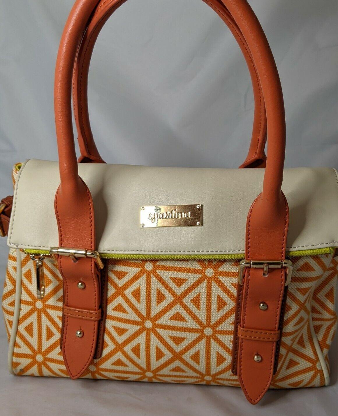 Spartina Orange Creme Summer Spring Handbag Purse shoulder bag Adjustable Straps