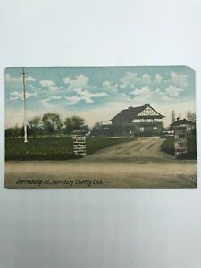 Harrisburg-Country-Club-PA-Old-Postcard-Pennsylvania-Vintage-Early-1900s-Golf
