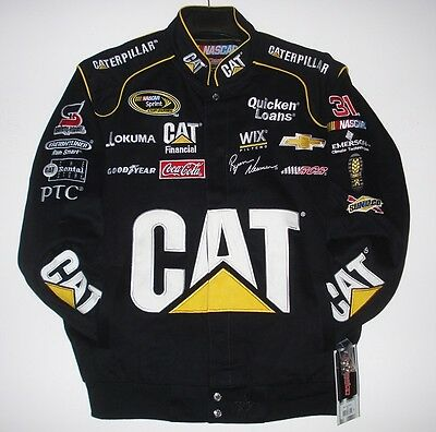 Size XXL Nascar  Ryan Newman Cat Caterpillar Cotton Black Jacket  2XL JH Design