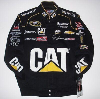 Size XXL Nascar  Ryan Newman Cat Caterpillar Cotton Black Jacket  2XL JH Design