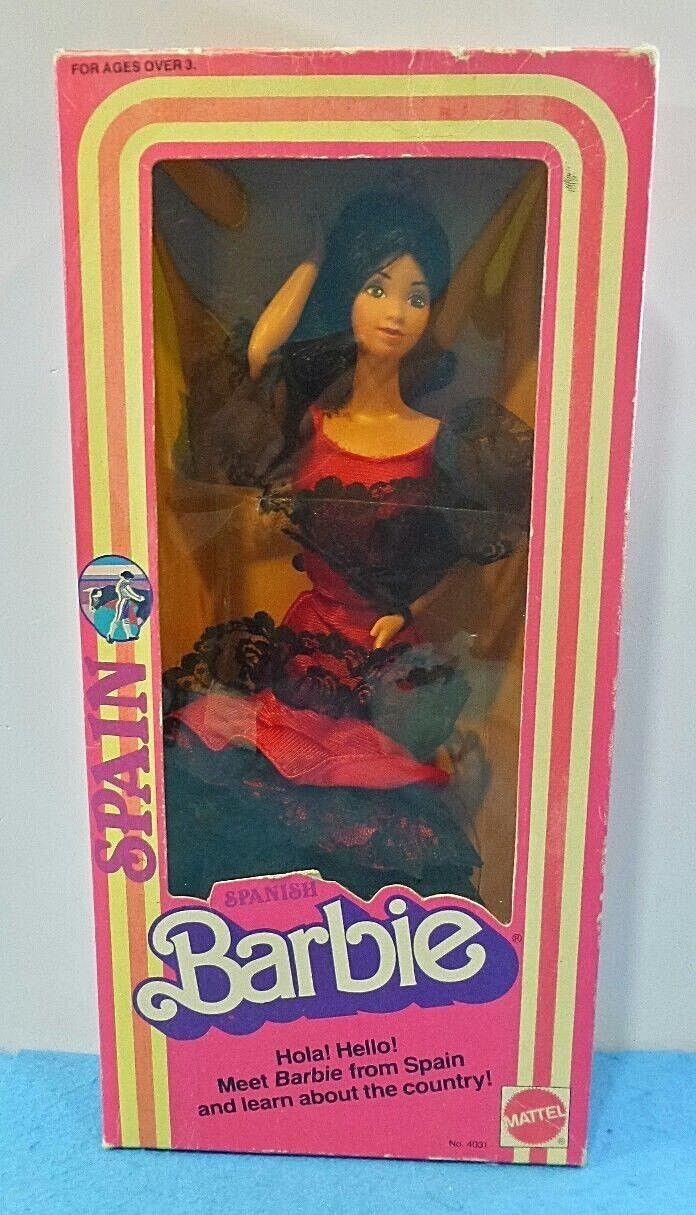 BARBIE SPANISH FAMOUS INTERNATIONAL FASHION DOLL 4031 SPAIN MATTEL 1982 MATTEL