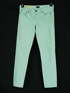J-Crew-Toothpick-Skinny-Jeans-Women-039-s-Teen-25-Regular-Mint-Green-Denim-Cotton