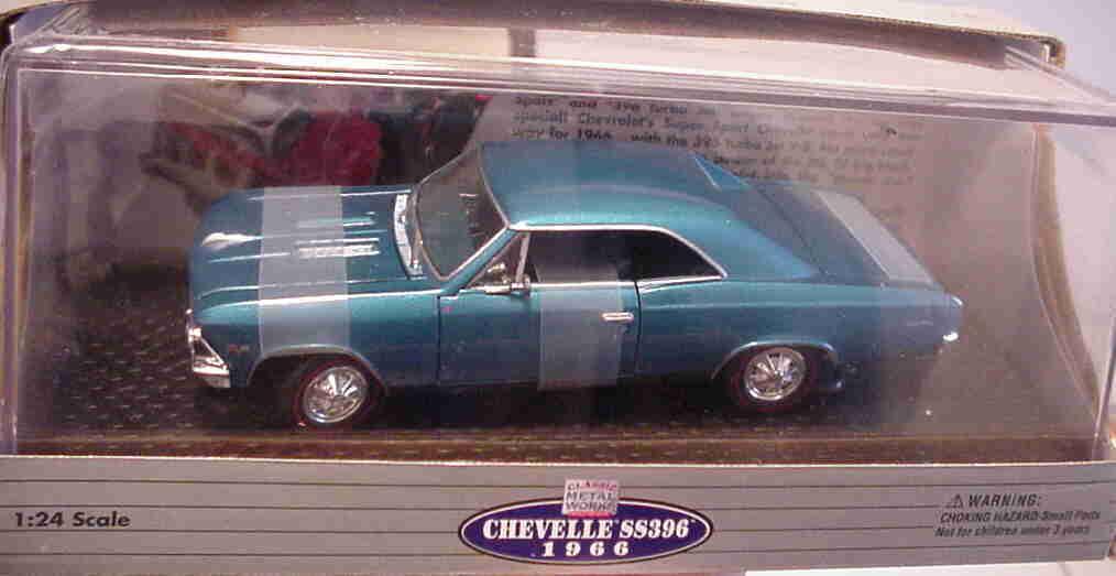 1966 Chevelle Marina bluee 1 24 Classic Metal Works 10114